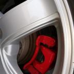 Rote Bremssättel und 40mm Distanzscheiben